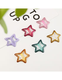 Fashion Suit Five-pointed Star Alloy Hollow Child Hairpin