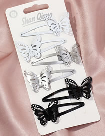 Fashion Suit Butterfly Alloy Hollow Geometric Hairpin Set