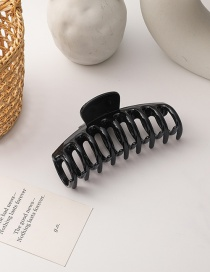 Fashion Black Resin Geometric Hollow Shark Clip