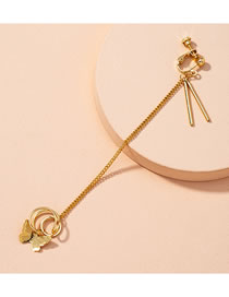 Fashion Golden (1 Pc) Butterfly Alloy Hollow Without Pierced Ear Clip