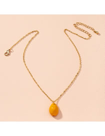 Fashion Yellow Shell Resin Alloy Necklace