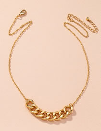 Fashion Golden Thick Chain Stitching Alloy Necklace