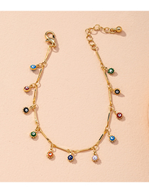 Fashion Golden Small Round Bead Chain Double-sided Geometric Bracelet