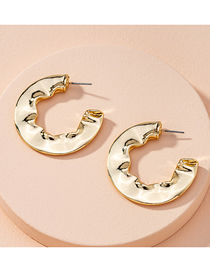 Fashion Golden Twisted Circle Geometric Alloy Earrings