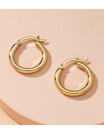 Fashion Golden Round Alloy Hollow Earrings