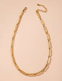 Fashion Golden Thick Chain Geometric Alloy Hollow Earrings