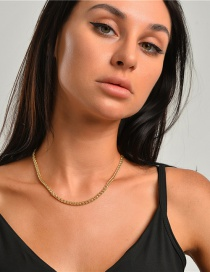 Fashion Golden Copper Chain And Whip Chain Alloy Necklace