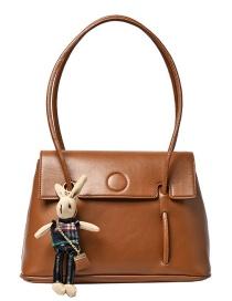Fashion Brown Bunny Flap Diagonal Shoulder Bag