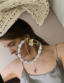 Fashion Bracelet Double-layer Pearl Chain Stitching Necklace Bracelet