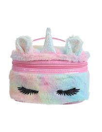 Fashion Color Big Eyes Plush Unicorn Embroidered Childrens Storage Bag