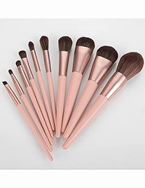 Fashion 10pcs-sunshine-makeup Brushes 10pcs-sunshine-makeup Brushes  Wooden Handle