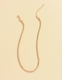 Fashion Gold Whip Chain Thin Side Alloy Necklace