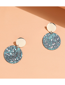 Fashion Green Painted Disc Alloy Earrings