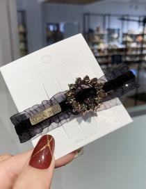 Fashion Black Diamond Lace Geometric Alloy Hairpin