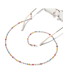 Fashion Color Handmade Crystal Beaded Chain Glasses Chain