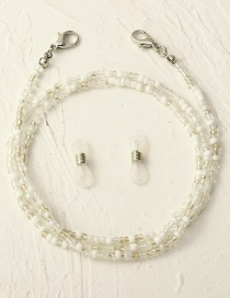 Fashion White Rice Beads Contrasting Color Anti-skid Glasses Chain