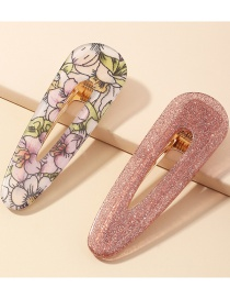 Fashion Pink Resin Geometric Alloy Acrylic Hairpin