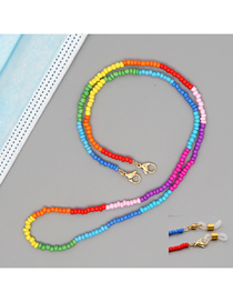 Fashion Mixing 7 Rice Beads Handmade Beaded Color Contrast Geometric Multifunctional Non-slip Glasses Chain