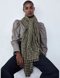 Fashion Lattice Small Plaid Cashmere Scarf Shawl