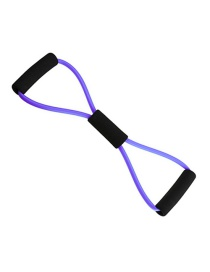 Fashion Purple Latex Figure Eight Pull Rope Yoga Chest Expander
