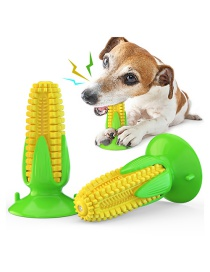 Fashion Yellow Sucker Corn Vocal Dog Toothbrush Pet Toy