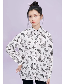 Fashion Butterfly Print Butterfly Print Loose Shirt