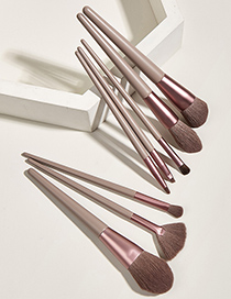 Fashion Autumn Leaf Brown 8 Pcs-autumn Leaves Brown Makeup Brushes