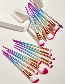 Fashion Color Mixing 16-frosted Makeup Brushes
