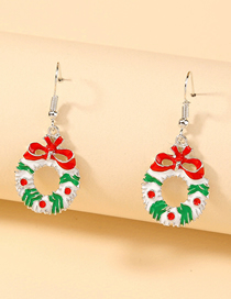Fashion Bow Christmas Pattern Bow Earrings