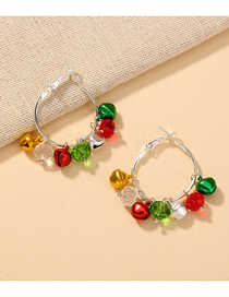 Fashion Bells Christmas Small Bell Round Alloy Earrings