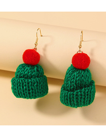 Fashion Hat Hand-knitted Christmas Hat Pendant Earrings