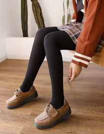 Fashion 350 With Feet Black Thread And Velvet Thick Cotton Vertical Stripe Leggings