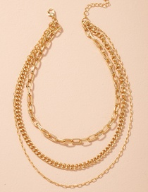 Fashion Golden Thick Chain Alloy Multilayer Necklace
