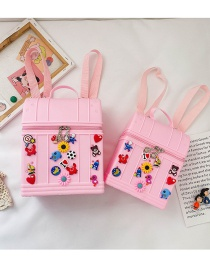 Fashion Small Pink Applique Silicone Hole Children Backpack