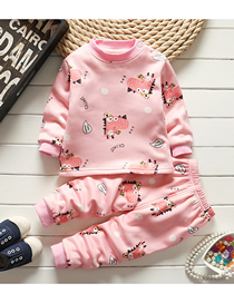 Fashion Foundation Hippo 75/120 Is Recommended For Height 110 Printed Plus Velvet Thick Milk Silk Childrens Thermal Underwear And Home Service Suit