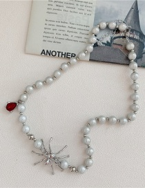 Fashion Fluorescent Chain Spider Pearl Alloy Necklace