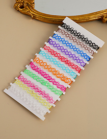 Fashion Color Resin Color Stretch Suit Bracelet