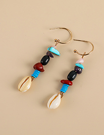 Fashion Color Alloy Resin Irregular Shape Shell Earrings