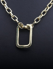 Fashion 50mm Chain+g Gold-plated Copper Necklace With Micro-inlaid Zircons
