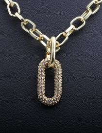 Fashion 50mm Chain + Accessories A Gold-plated Copper Necklace With Zircon