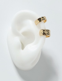 Fashion Golden Beating Pattern Alloy Ear Clip Set