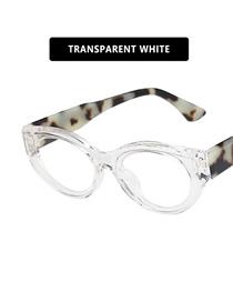 Fashion Transparent White Film Cat Eye Resin Small Frame Sunglasses
