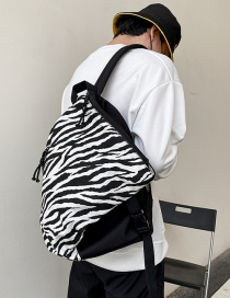 Fashion Big Lines Check Mortise Lock Print Backpack
