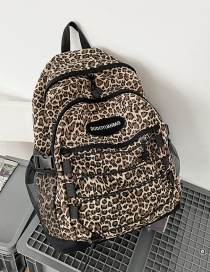 Fashion Leopard Print Without Pendant Leopard Print Nylon Backpack