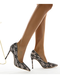 Fashion Black Pointed Stiletto Pumps High-heeled Shoes