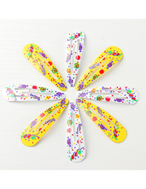 Fashion Suit Printed Geometric Shape Alloy Hollow Hairpin