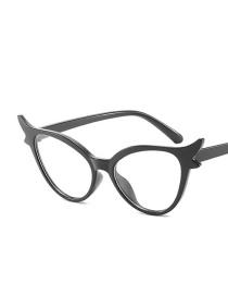 Fashion Black Frame Flat Light Cat Eye Antlers Angel Wing Sunglasses