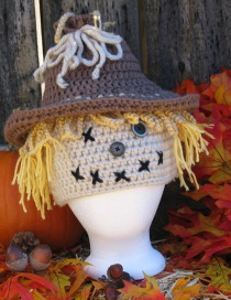 Fashion Brown Scarecrow Contrast Color Woolen Knitted Children Hat