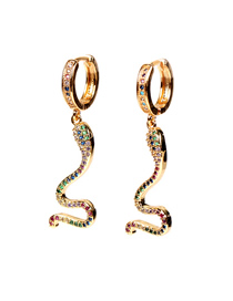 Fashion Earring Diamond Serpentine Alloy Necklace And Earrings