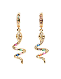 Fashion Earring Diamond Snake Necklace Earrings